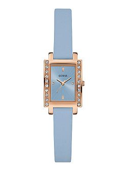 W0888l5 ladies leather strap dress watch