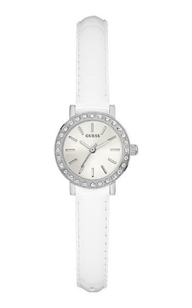 Guess W0885l1 ladies leather strap dress watch