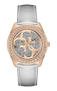 Guess W0627l9 ladies` leather dress watch