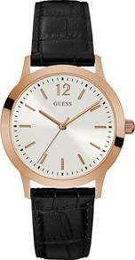 Guess W0922g6 gents leather strap dress watch