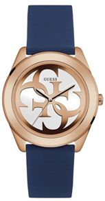 Guess W0911l6 ladies silicone strap watch