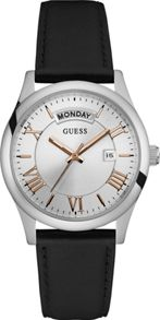 Guess W0924g1 gents leather strap dress watch