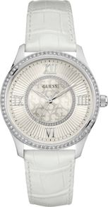 Guess W0768l4 ladies leather strap dress watch