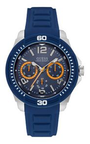 Guess W0967g2 gents silicone strap watch