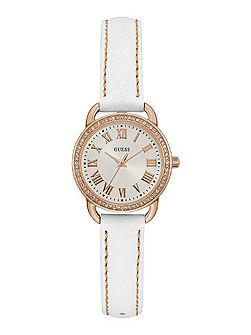 W0959l3 ladies leather dress watch
