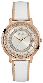 Guess W0934l1 ladies leather strap dress watch