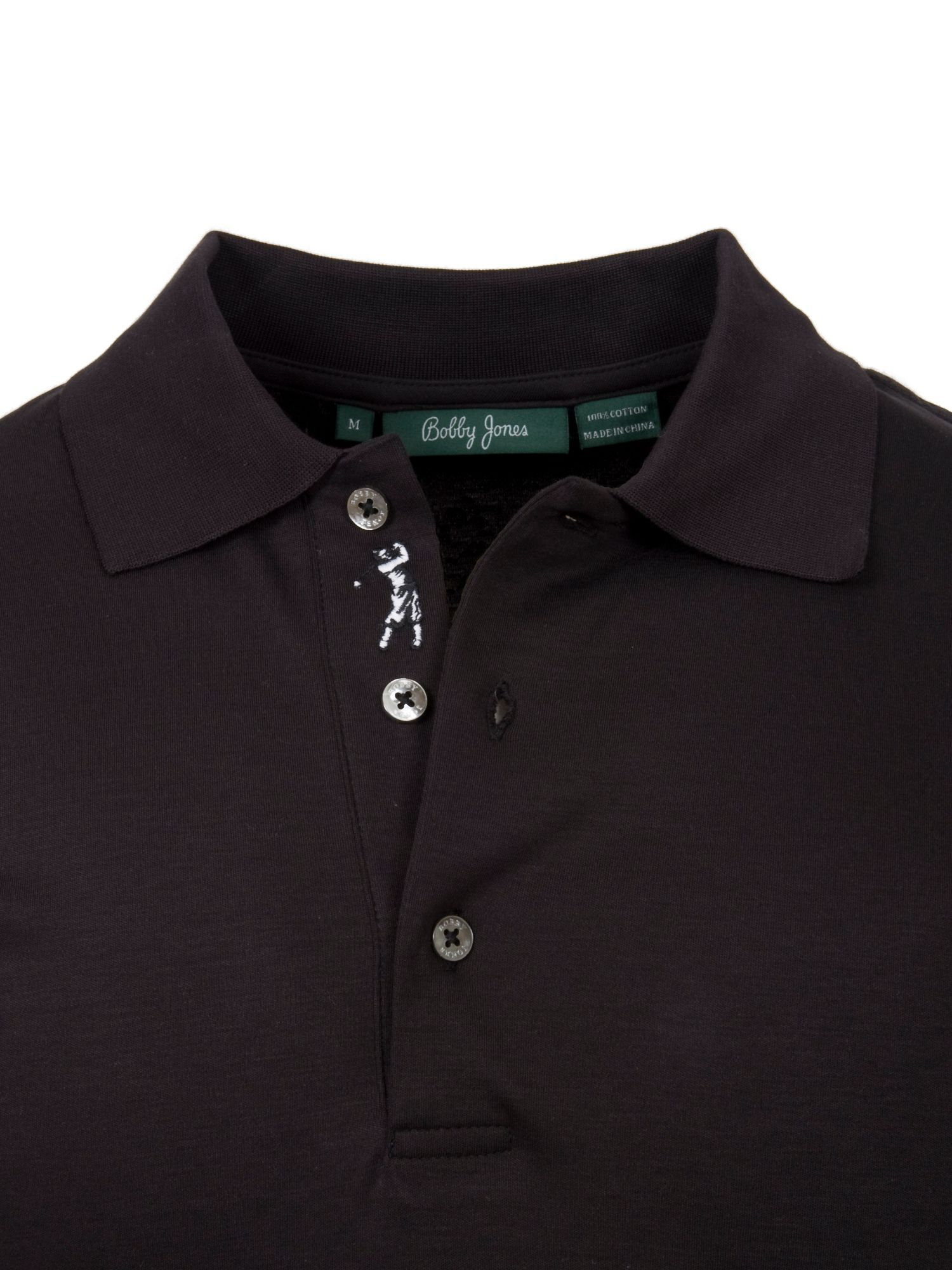 Solid iquid cotton polo shirt