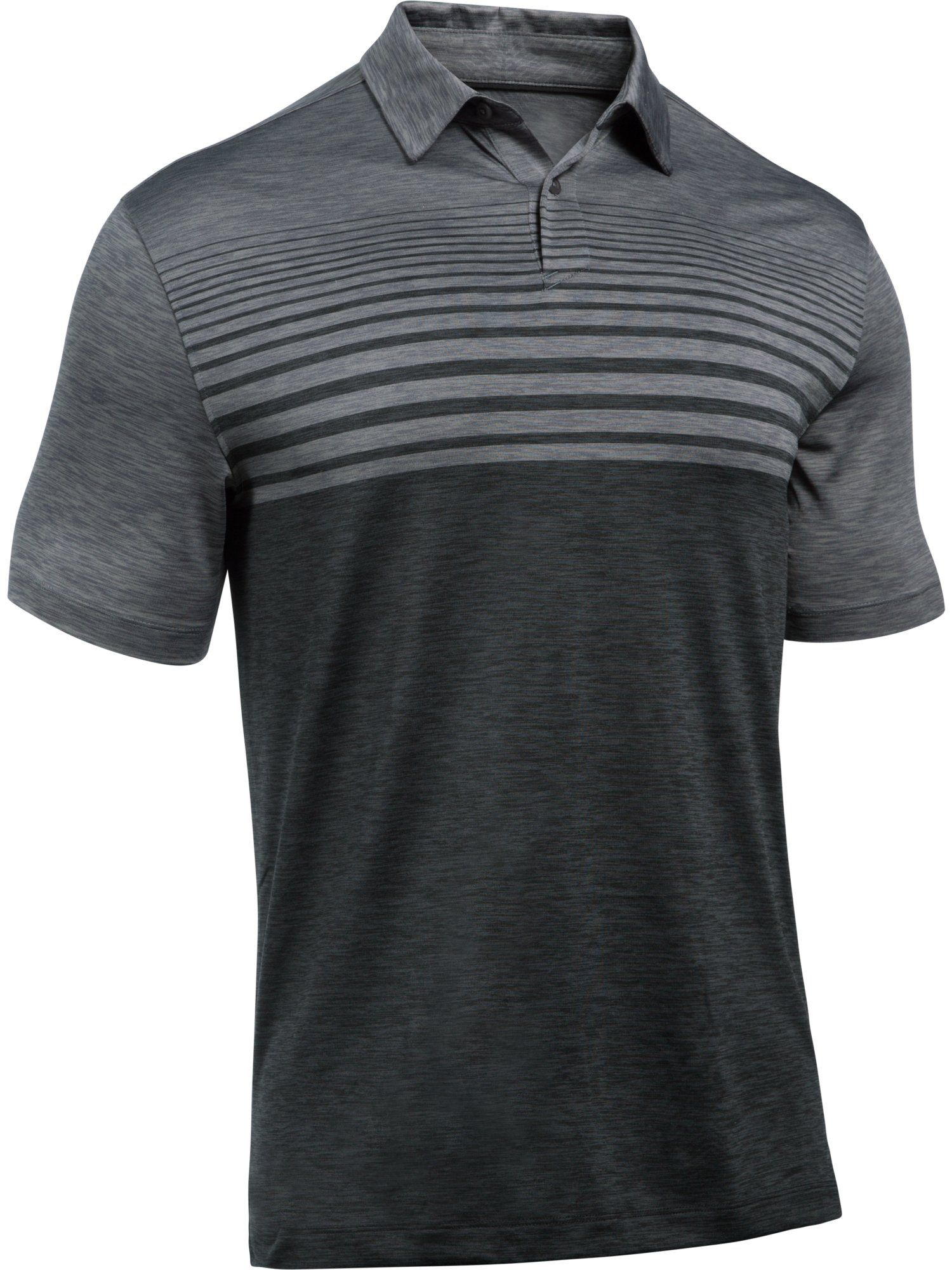 Men's Under Armour Coolswitch Upright Stripe Polo Shirt, Grey