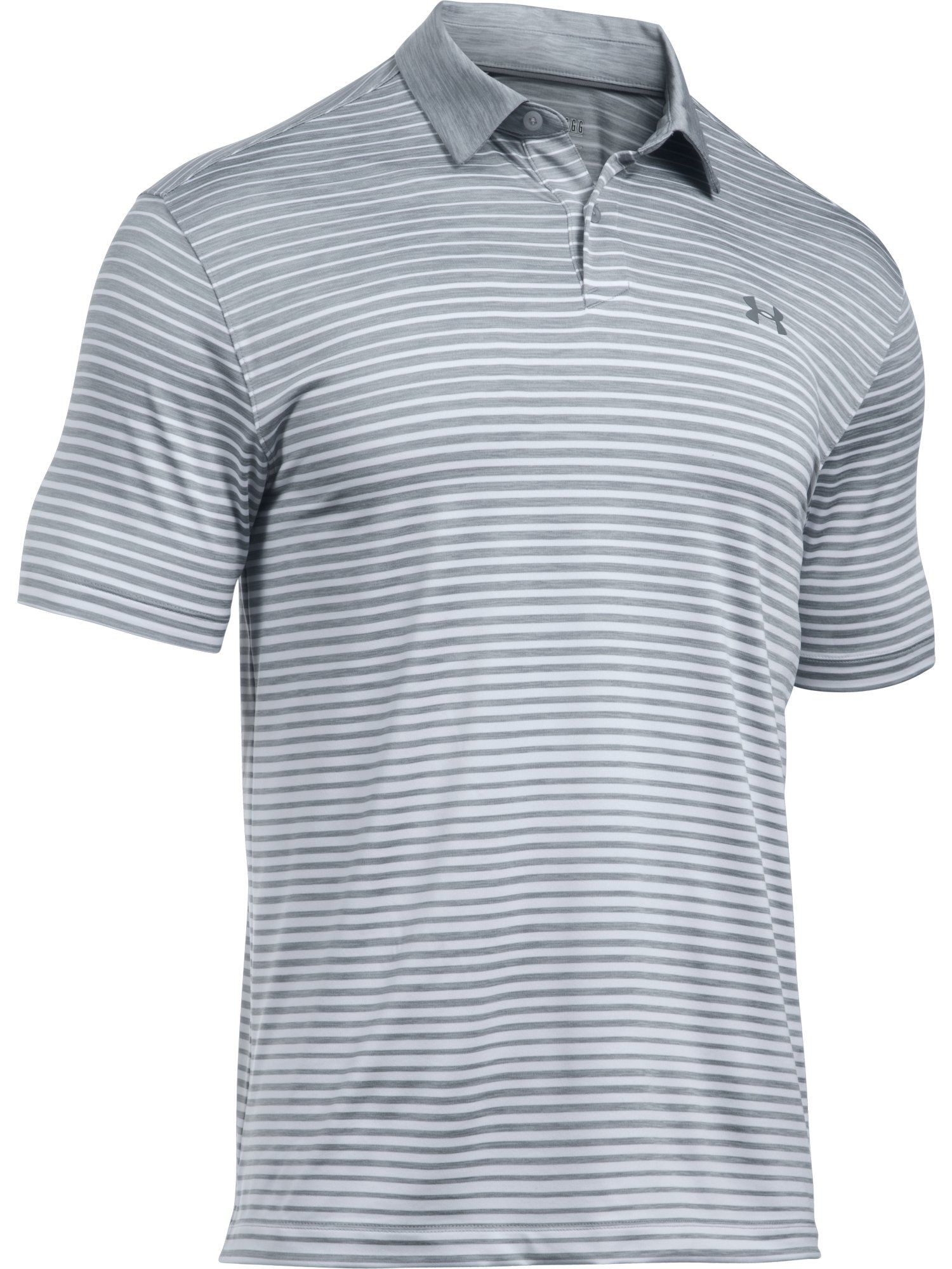 Men's Under Armour Trajectory Stripe Polo, Grey