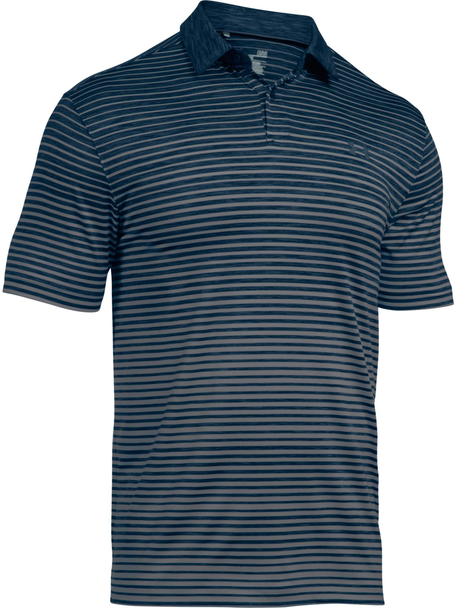 Men's Under Armour Trajectory Stripe Polo, Dark Blue