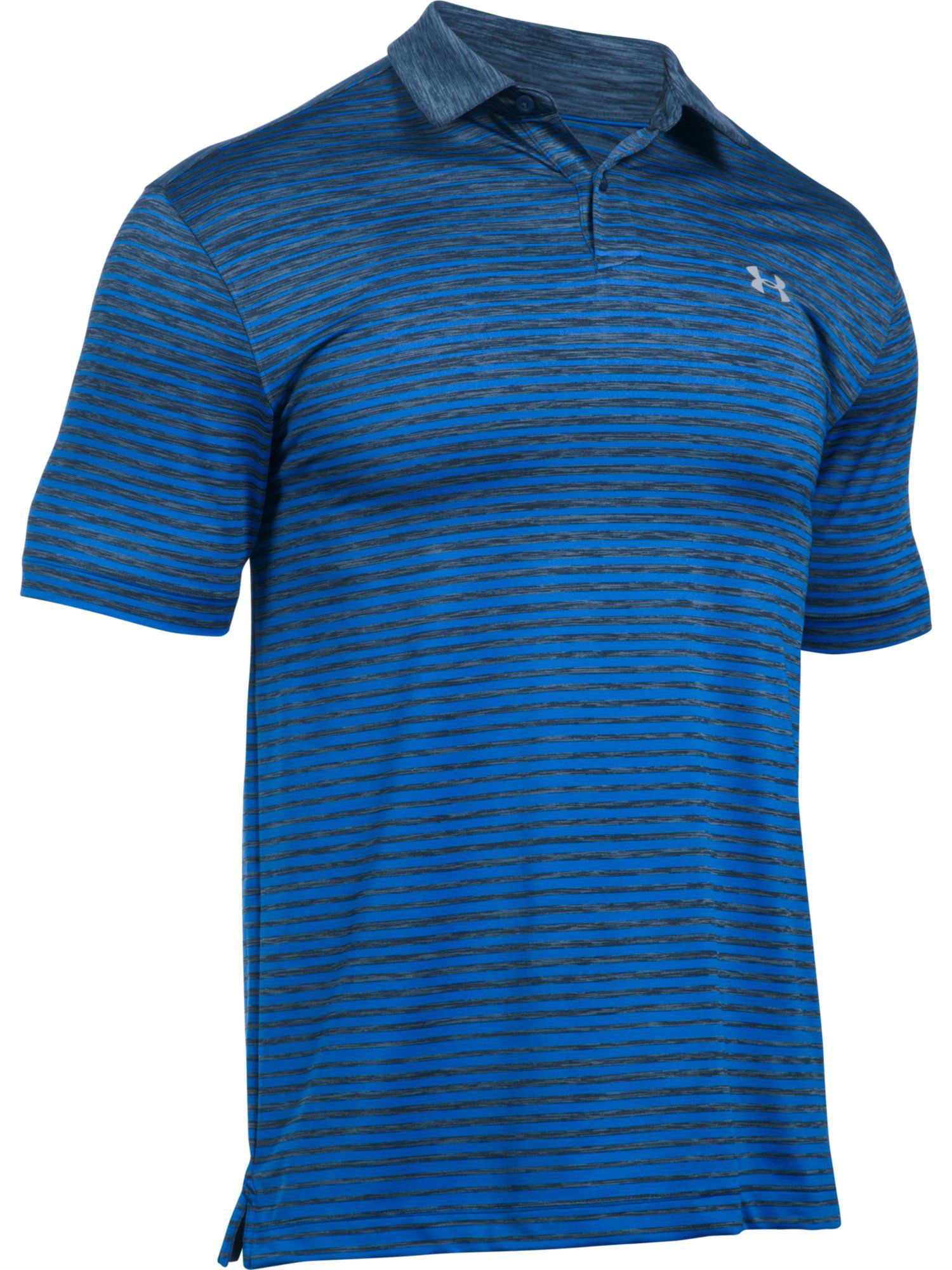 Men's Under Armour Trajectory Stripe Polo, Blue