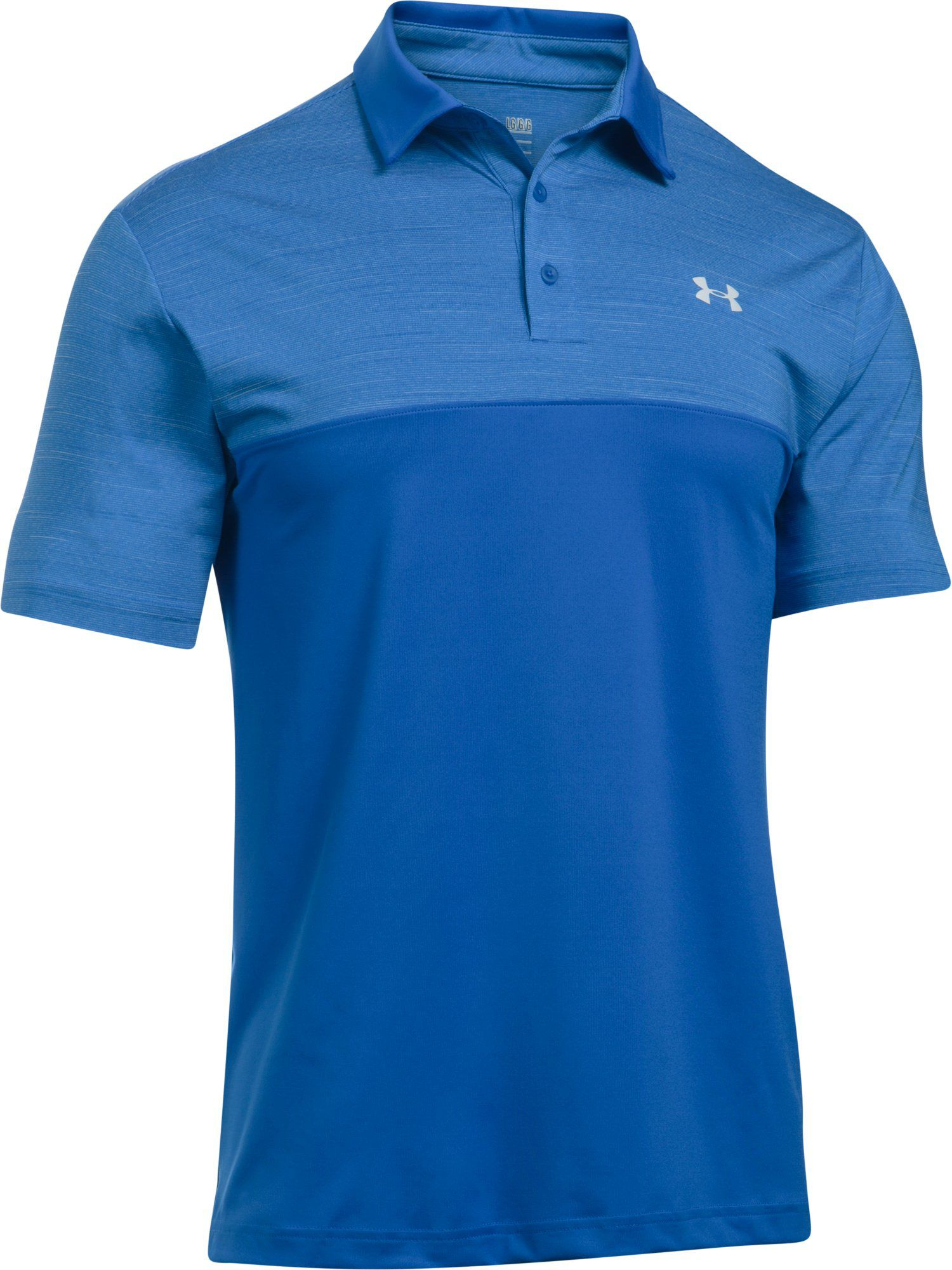 Men's Under Armour Playoff Polo Blocked, Blue