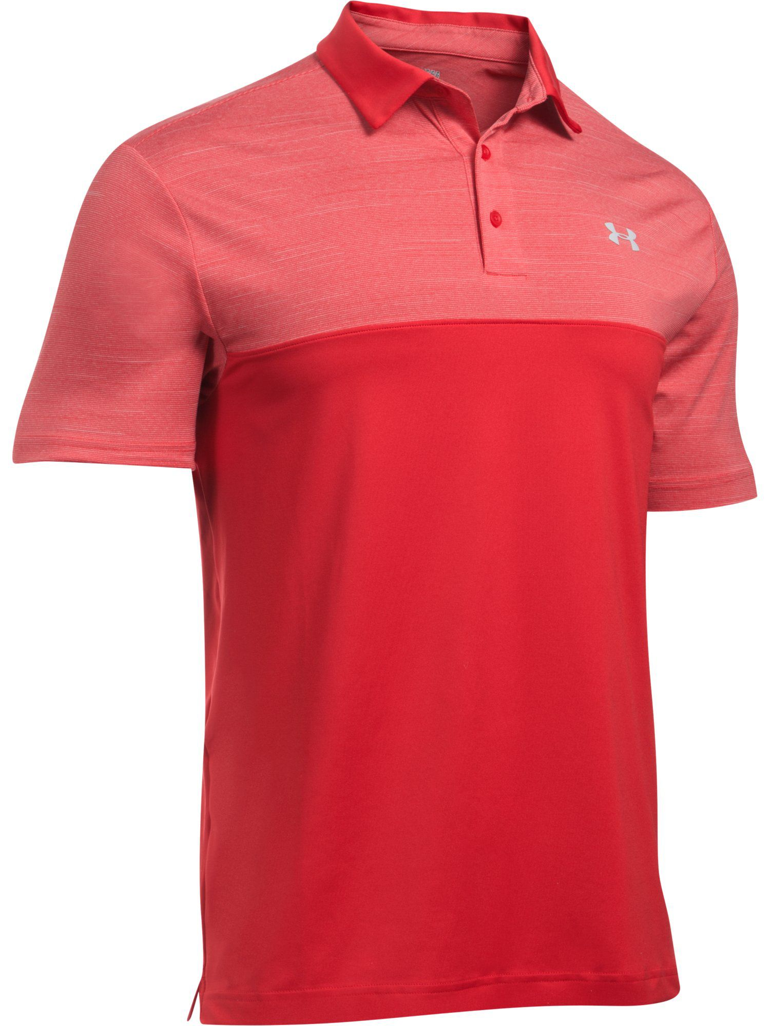 Men's Under Armour Playoff Polo Blocked, Red