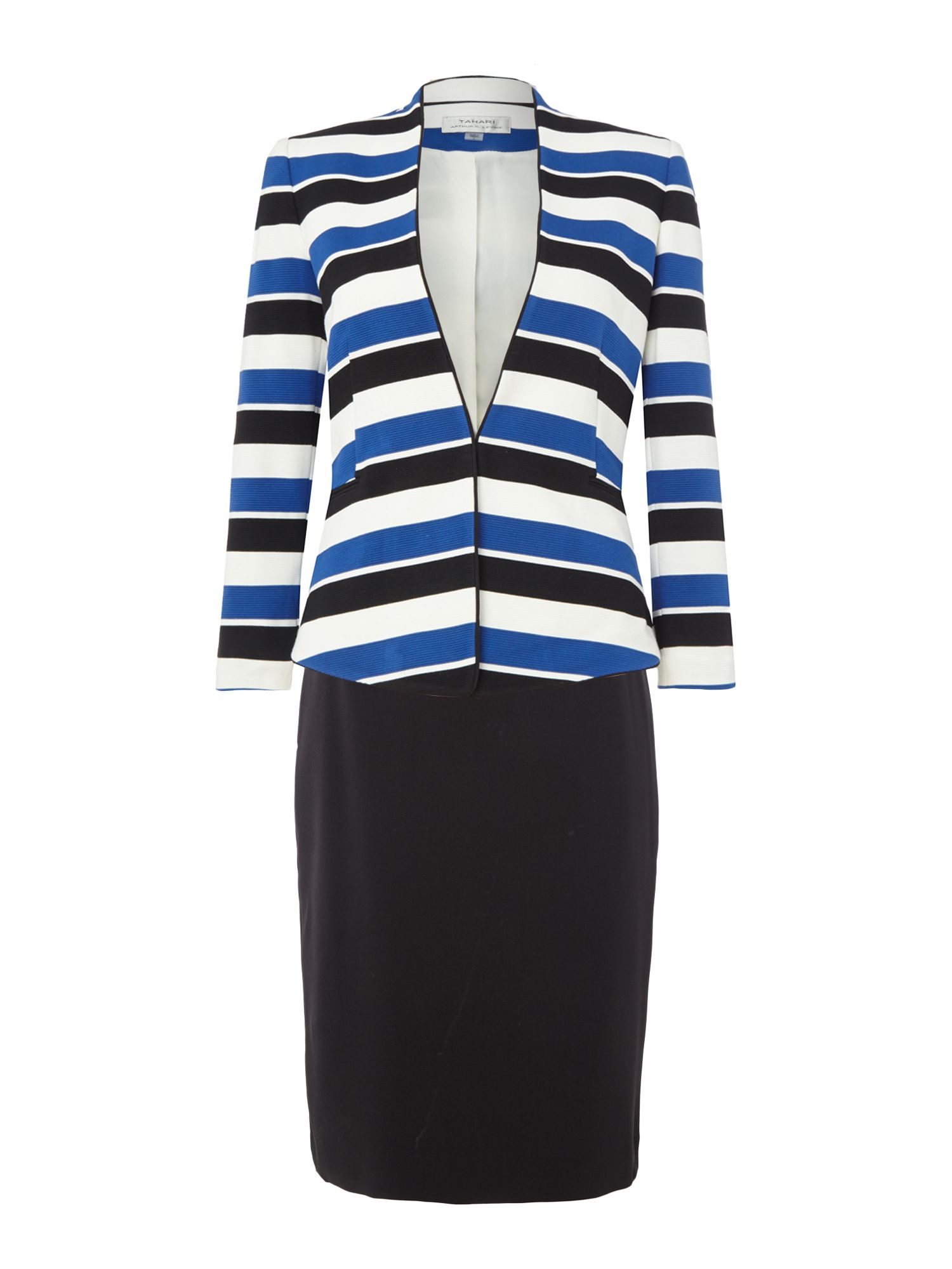 Tahari ASL Solid Stripe Suit Jacket, Multi-Coloured