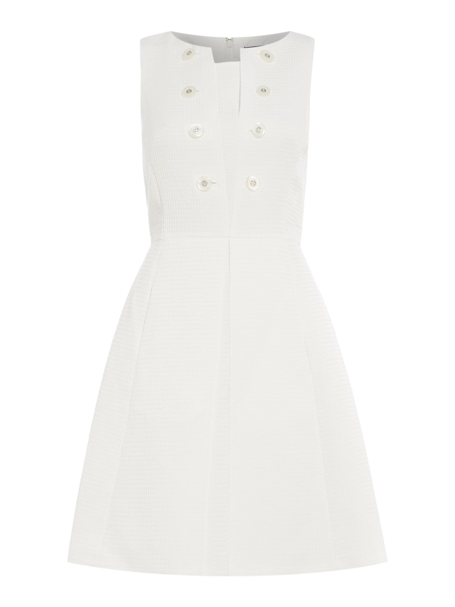 Tahari ASL White Fit And Flare Dress, White