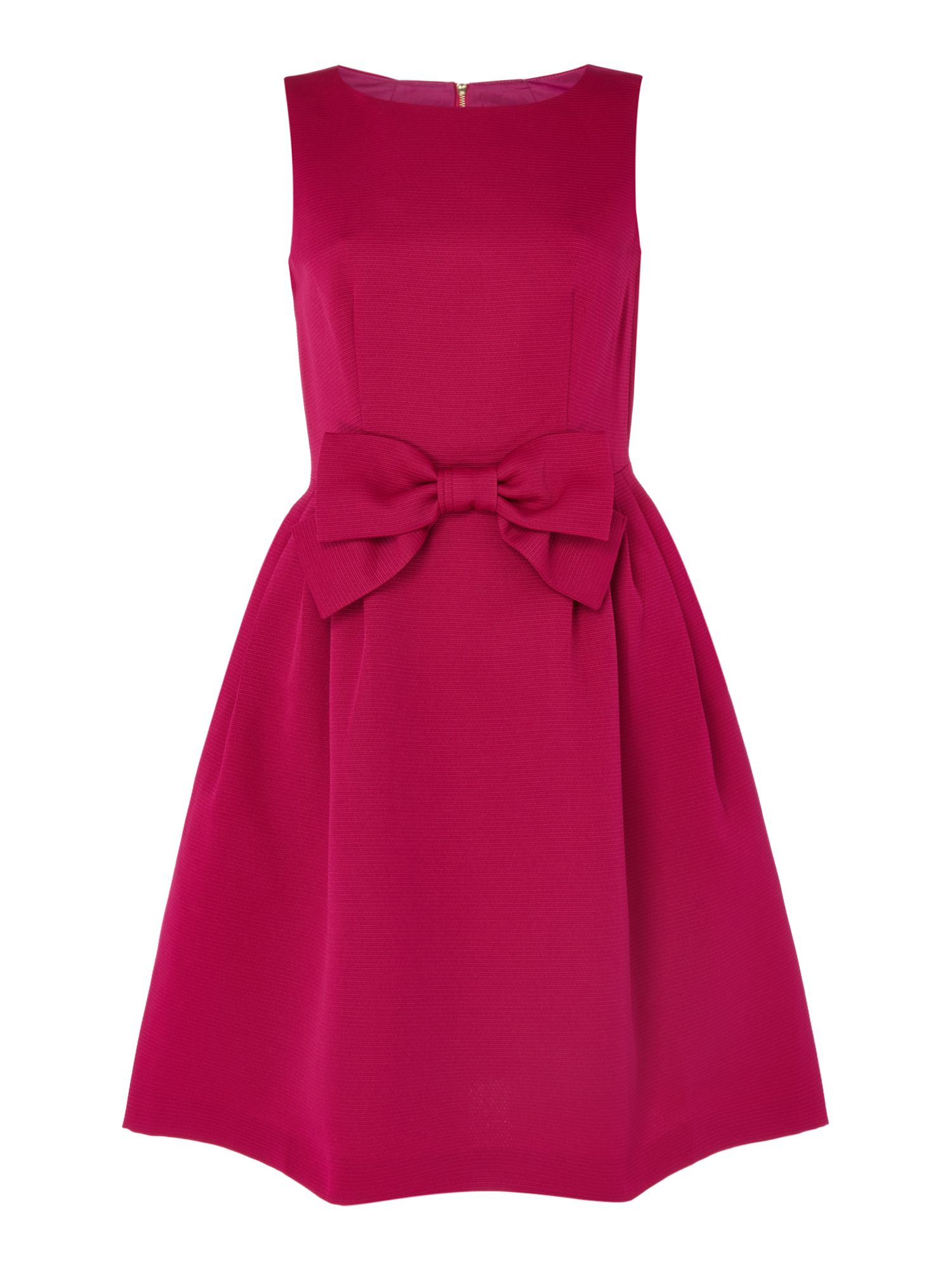 Tahari ASL Faille Fit And Flare Dress, Magenta