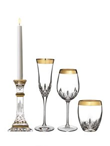 Lismore essence gold crystal set of 2 white wine