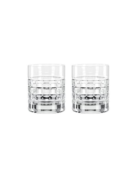 Waterford London double old fashioned set of 2 crystal tumb