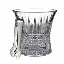 Wedgwood Lismore diamond ice bucket with tongs
