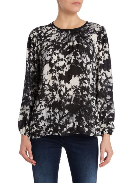 Vince Camuto Floral long sleeve smock blouse