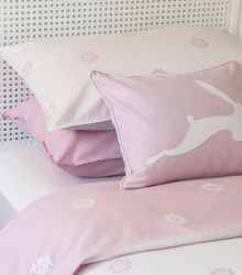 Harriet Hare Hare Flower light pillowcase