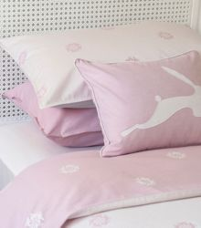 Hare Flower light pillowcase