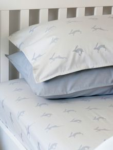 Harriet Hare Running Hare light pillowcase