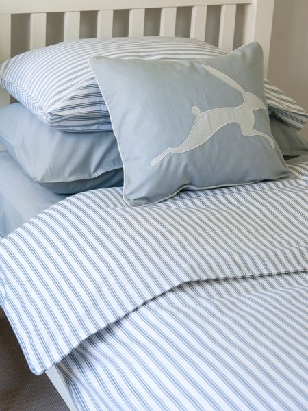 Blue Ticking Duvet Cover Harriet Hare Ticking Stripe