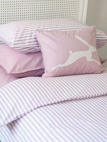 Harriet Hare Ticking Stripe pillowcase