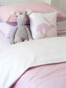 Harriet Hare Plain Jacquard duvet cover