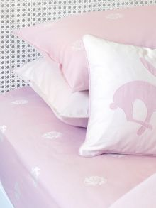 Plain Jacquard light pillowcase
