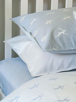 Harriet Hare Plain Jacquard light pillowcase