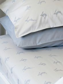 Harriet Hare Plain Jacquard dark pillowcase