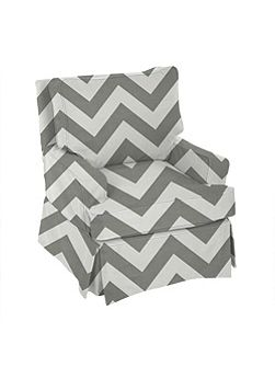 Grey Chevron Glider