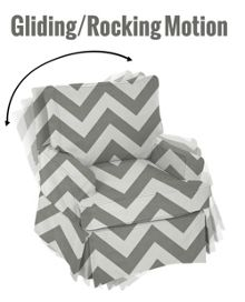 The Baby Cot Shop Grey Chevron Glider
