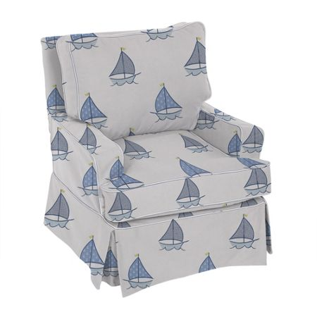 The Baby Cot Shop Sailboat Nursery Glider