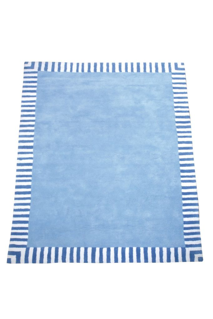 Image of The Baby Cot Shop Pale Blue Border Rug