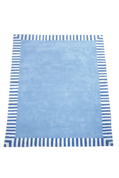 The Baby Cot Shop Pale Blue Border Rug
