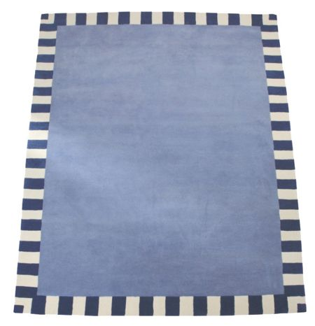 The Baby Cot Shop Steel Blue Border Rug