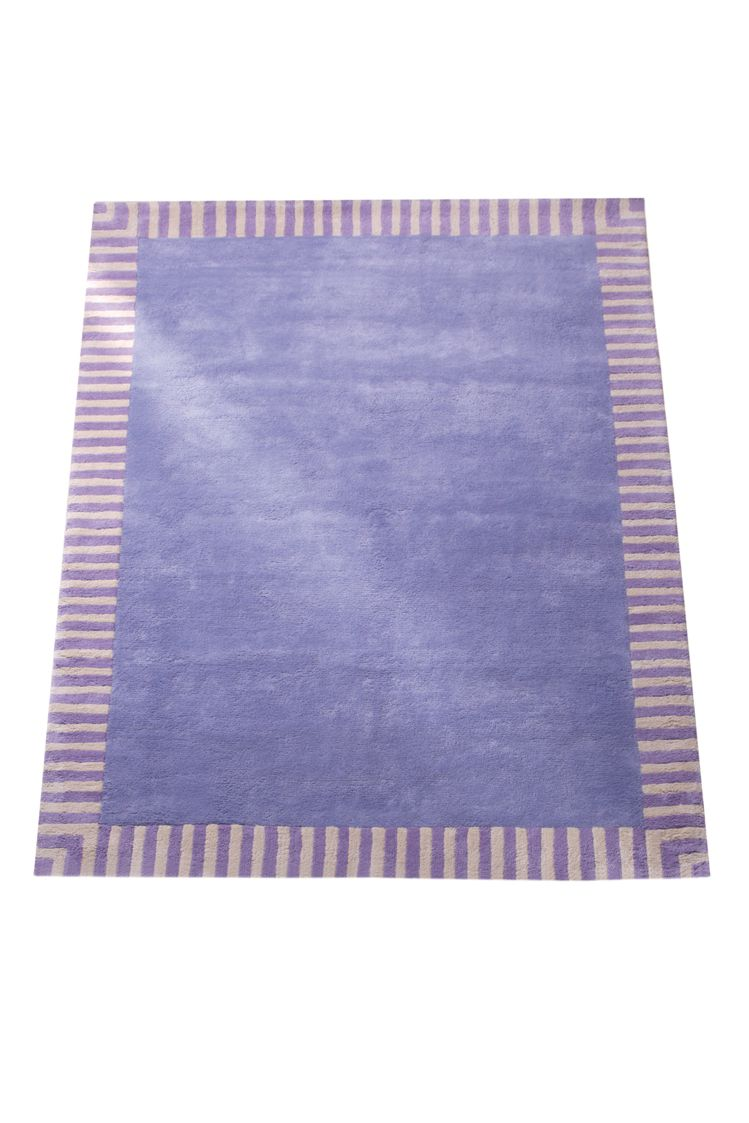 Image of The Baby Cot Shop Purple Border Rug