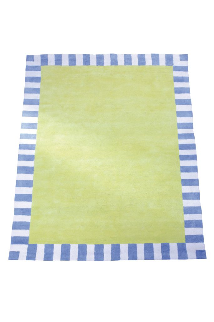 Image of The Baby Cot Shop Green Blue Border Rug