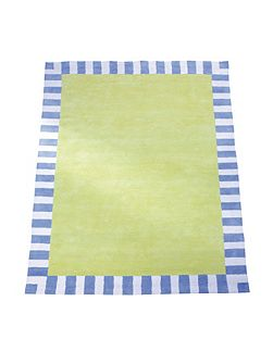 Green Blue Border Rug