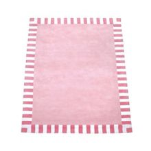 The Baby Cot Shop Pink Stripe Border Rug