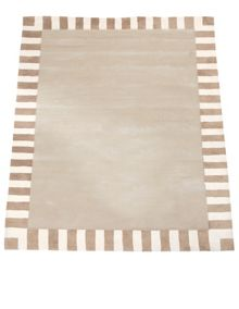 The Baby Cot Shop Tan Border Rug