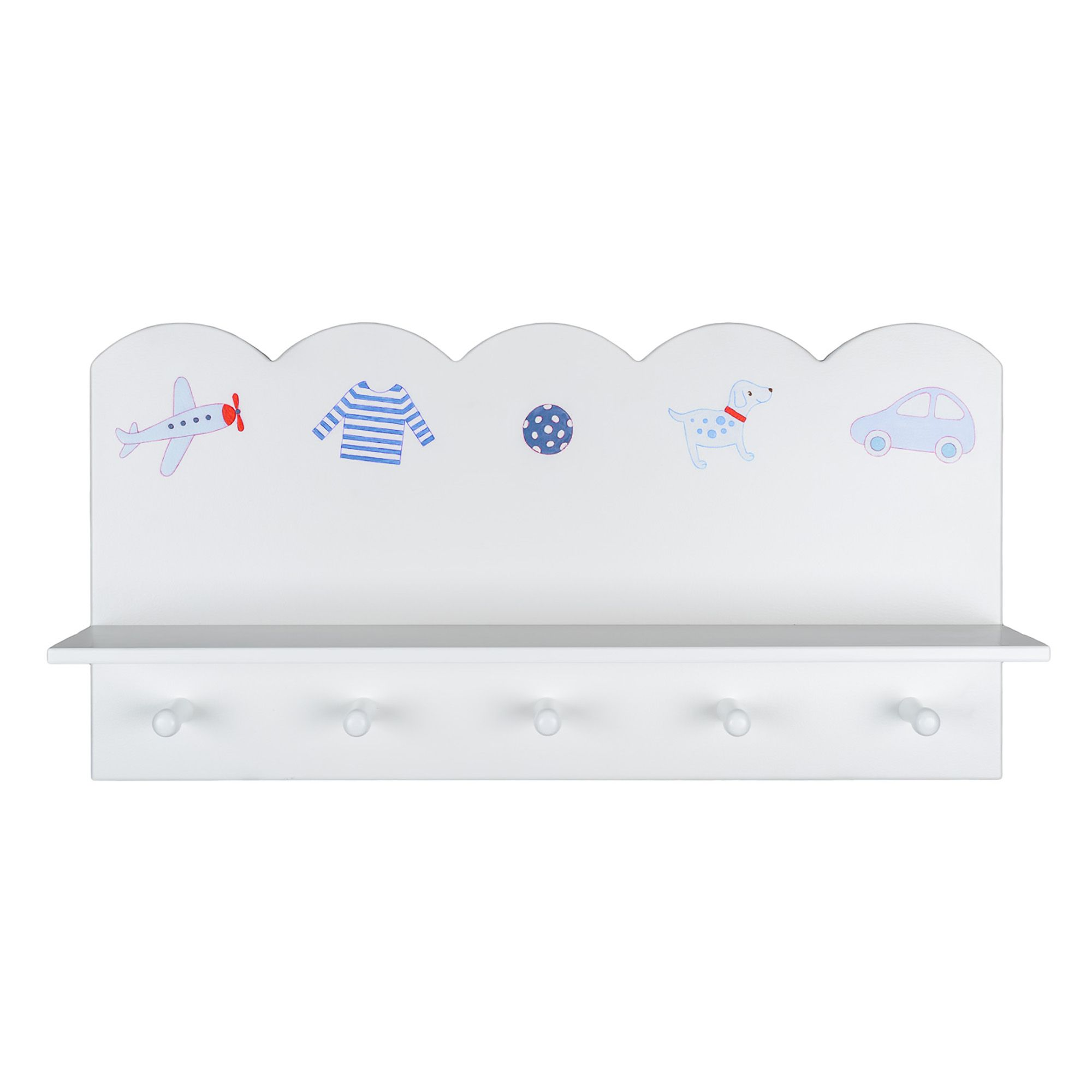 Image of The Baby Cot Shop Motif Wall Shelf for Boys