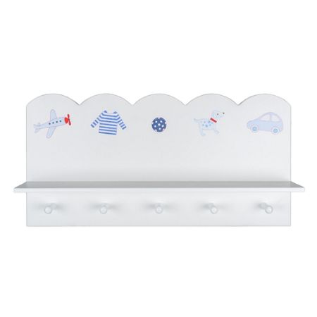 The Baby Cot Shop Motif Wall Shelf for Boys