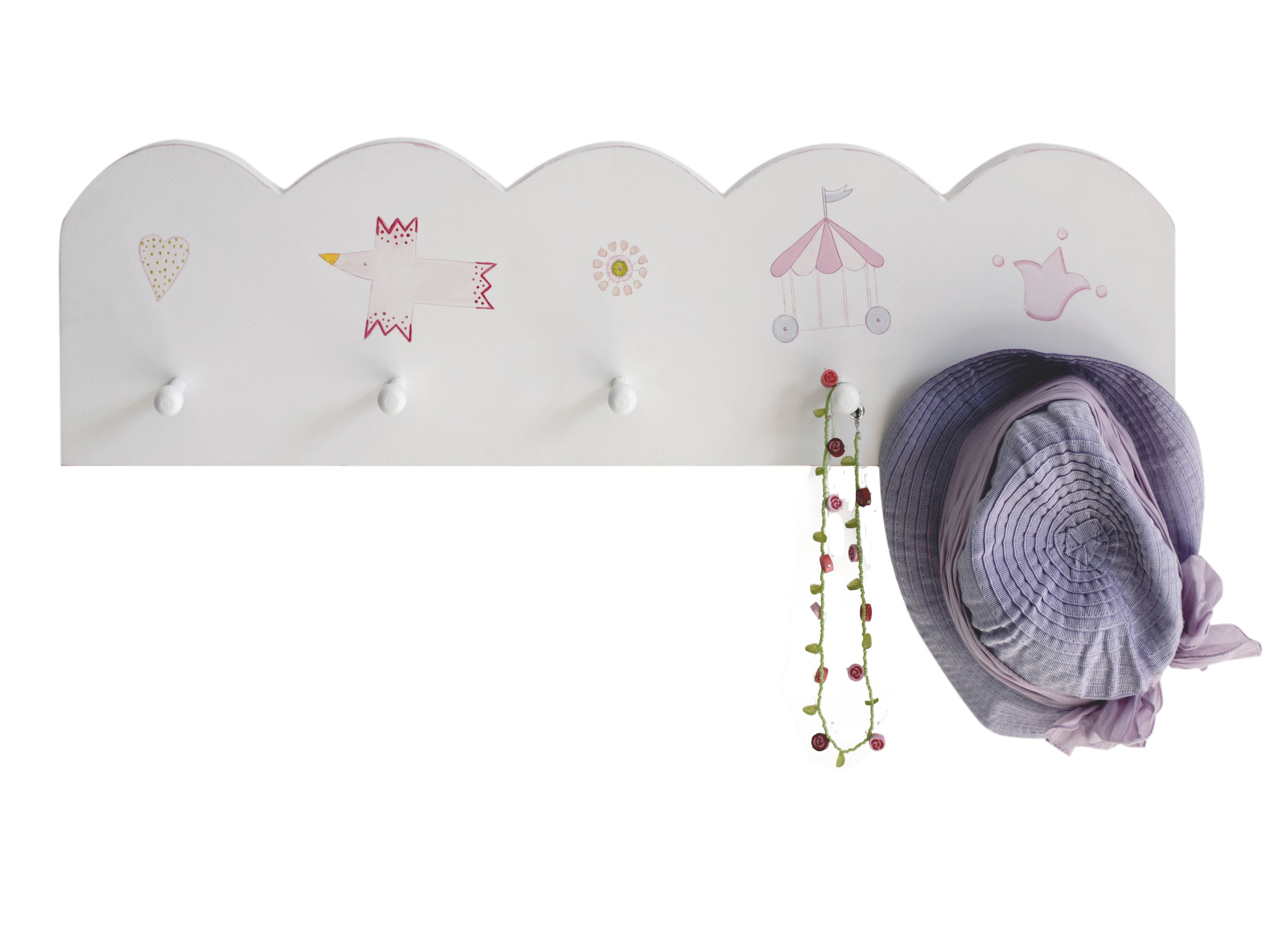 Image of The Baby Cot Shop Motif Wall Shelf for Girls
