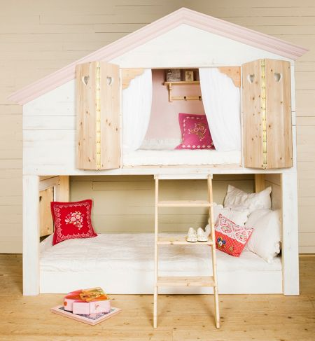 The Baby Cot Shop Jaffy House Bunk Bed
