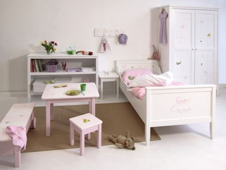 The Baby Cot Shop Motif Hand Painted Girls Bed