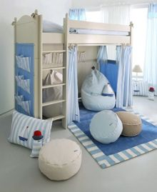 The Baby Cot Shop High Sleeper Bed